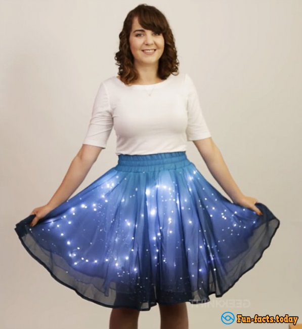 Skirt with LED Solar System Became a Real Sensation on the Internet