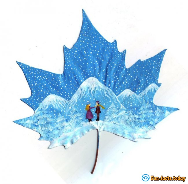 Couple From Georgia Turns Ordinary Maple Leaves in A Work Of Art