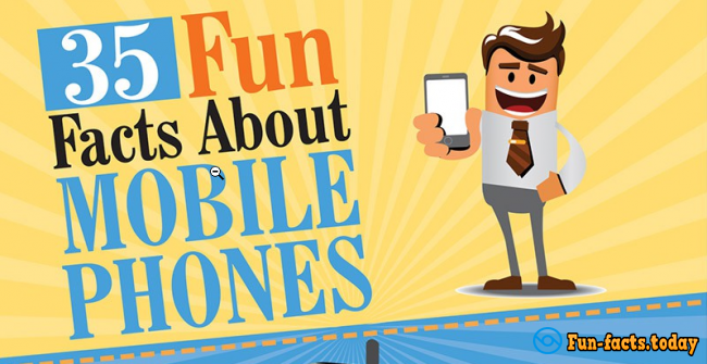 35 Most Interesting Facts About Mobile Phones Infographic